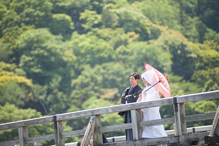 嵐山 前撮り 渡月橋