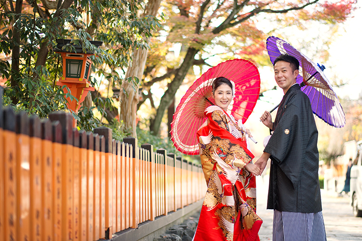 紅葉 前撮り 祇園