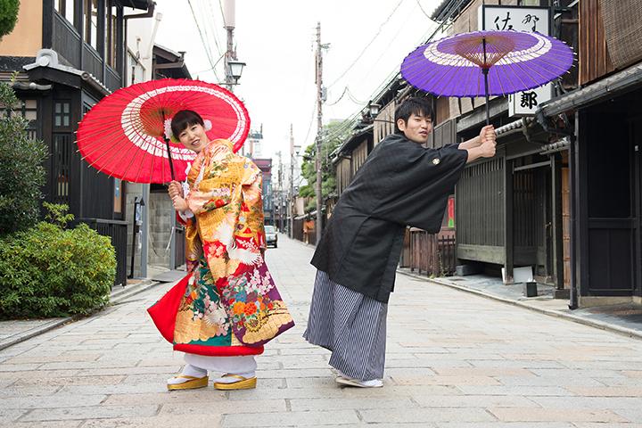 前撮り 紅葉 祇園