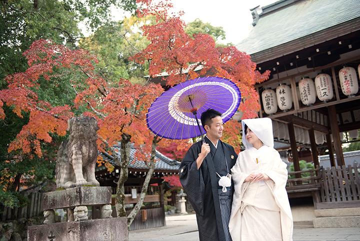 紅葉 前撮り 今宮神社