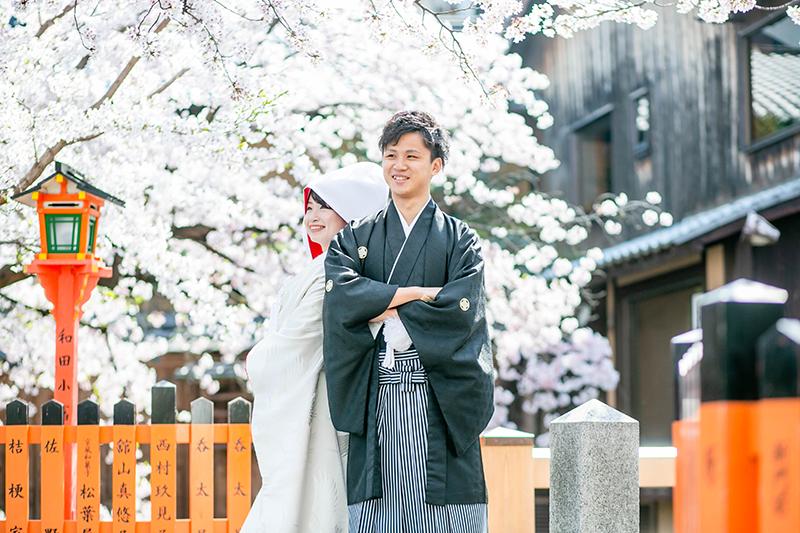 祇園の桜前撮り