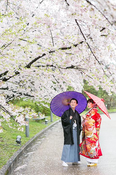 桜 前撮り