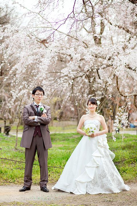 桜 前撮り ドレス