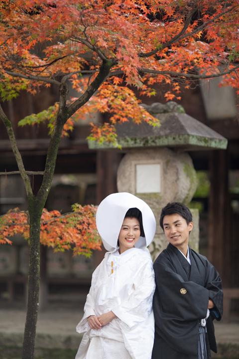 今宮神社 紅葉 前撮り