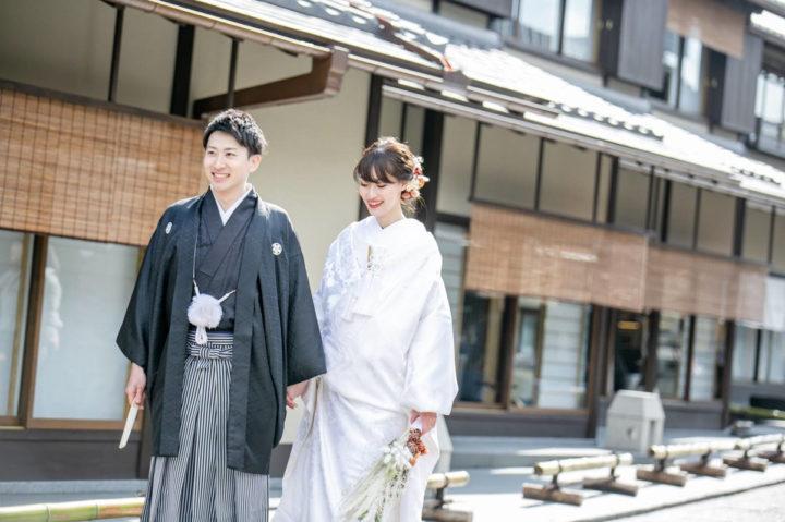 京都 和装 前撮り ドライフラワー